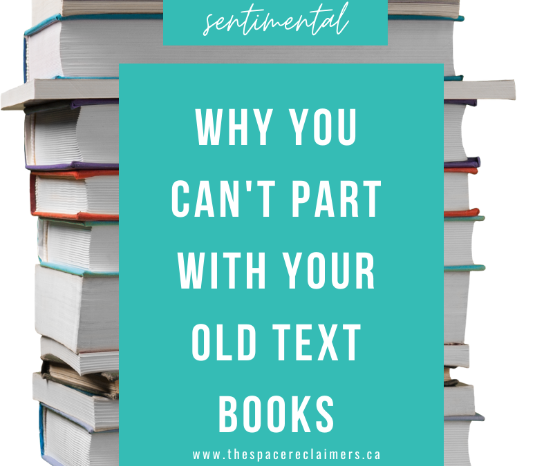 Why you can't let go of those old text books?